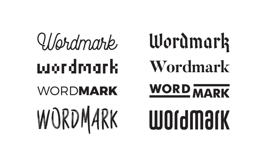 comparing different effects of different wordmarks