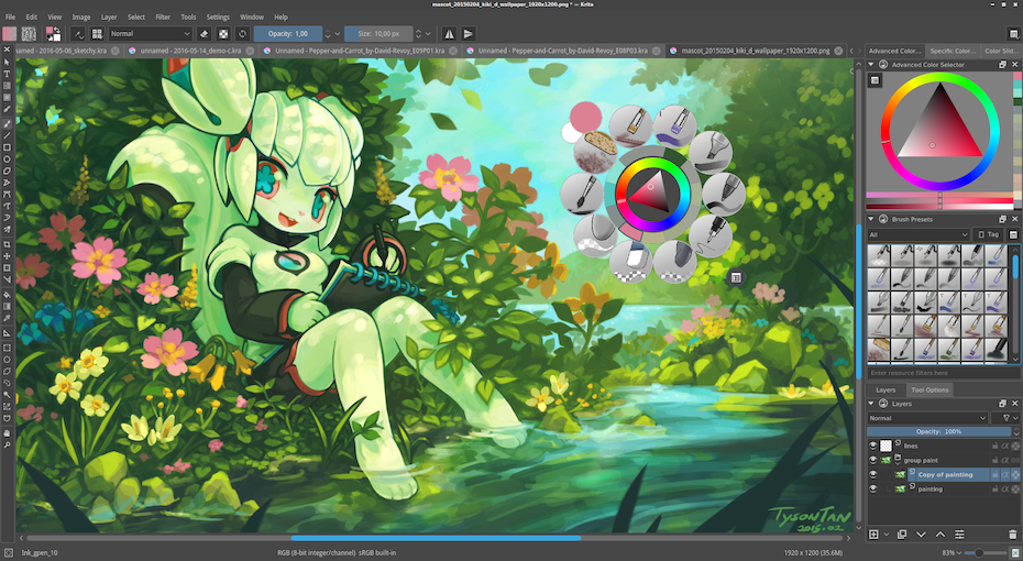 Krita interface
