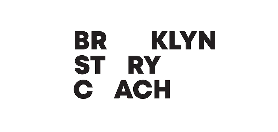 logo for brooklyn story coach
