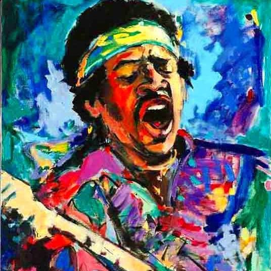 Jimi Hendrix expressionist