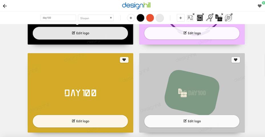 Designhill's logo maker process