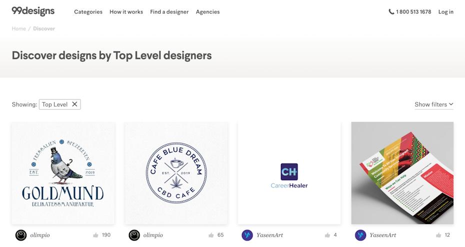 99designs discover designs
