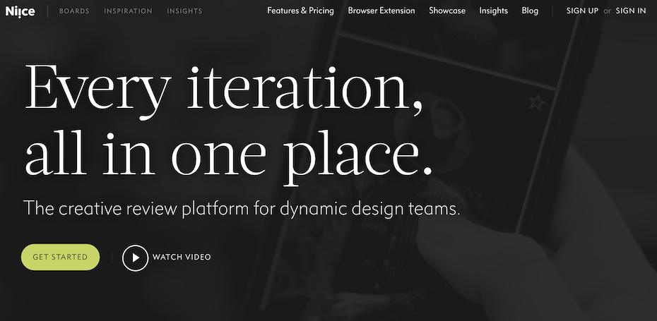 Niice homepage