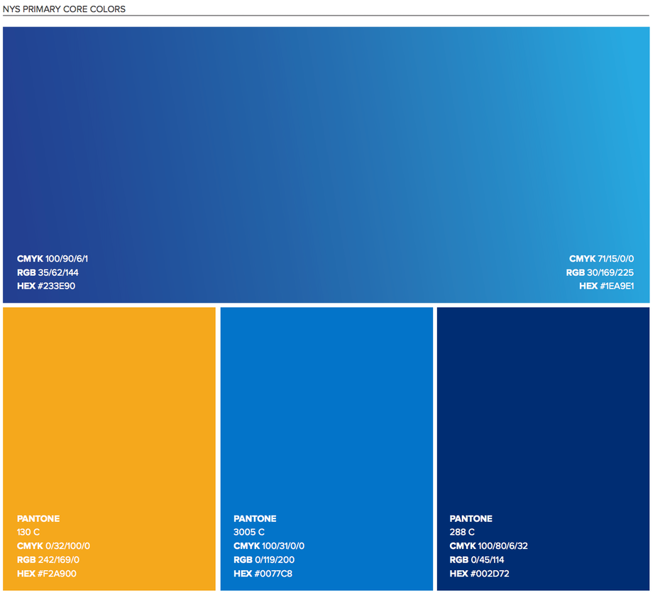 Screenshot of color palette section page 17