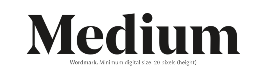 Screenshot of Medium logo with caption minimum digital size
