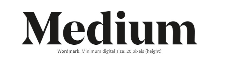 Screenshot of Medium logo with caption minimum digital size