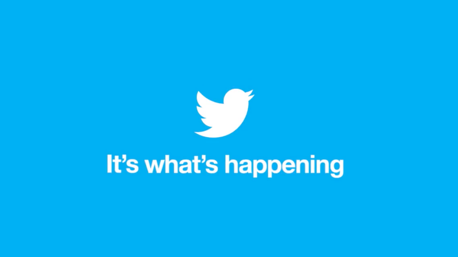 Twitter It's what's happening campaign logo and tagline