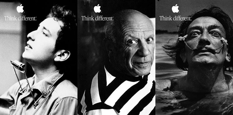 Apple Think Different logo with tagline