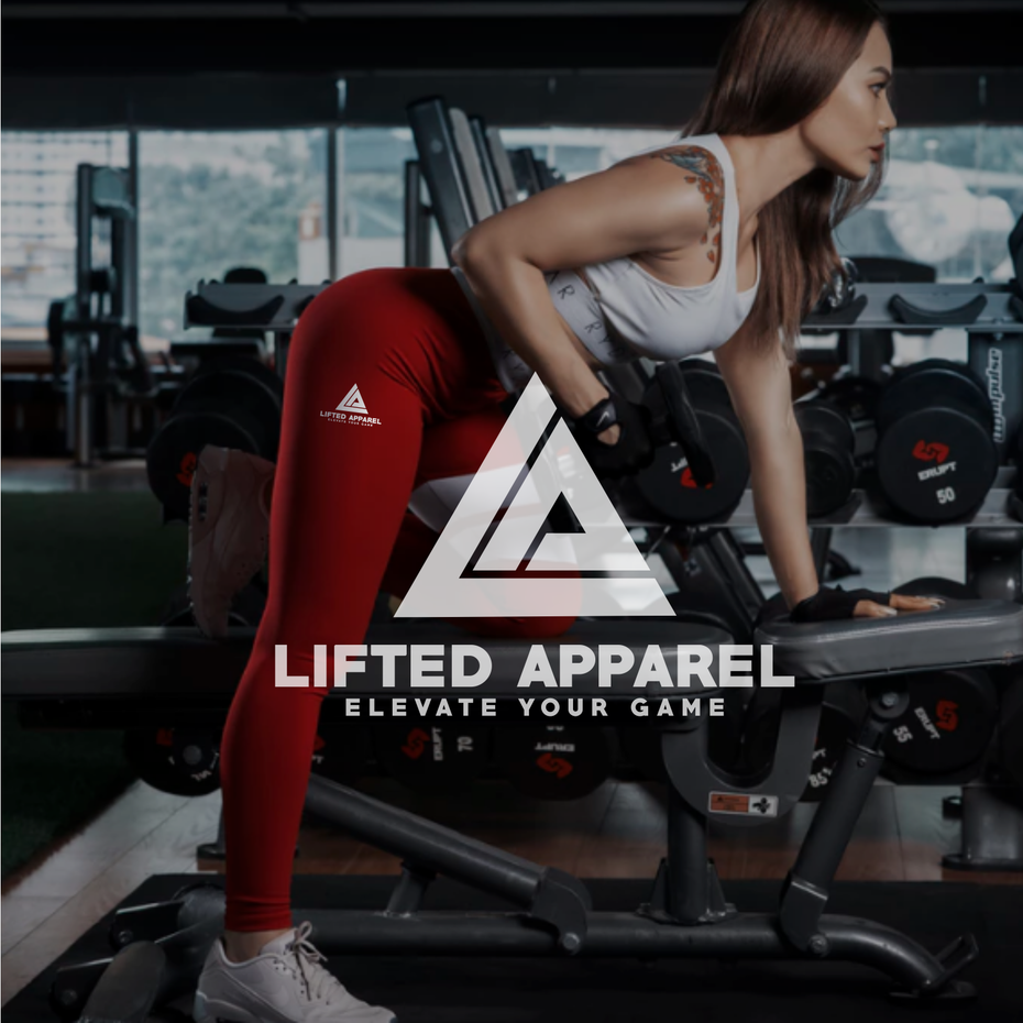 logo and tagline for Lifted Apparel