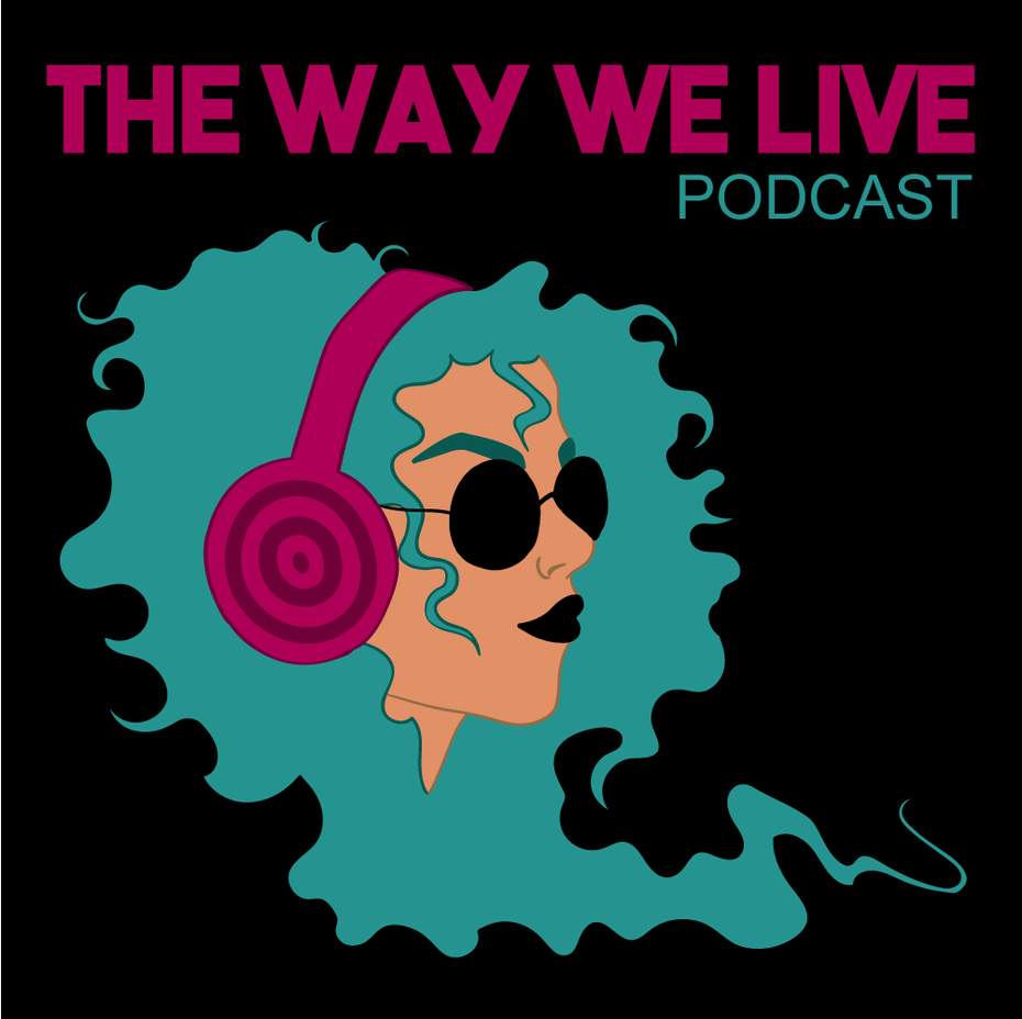 cool illustrated podcast cover design