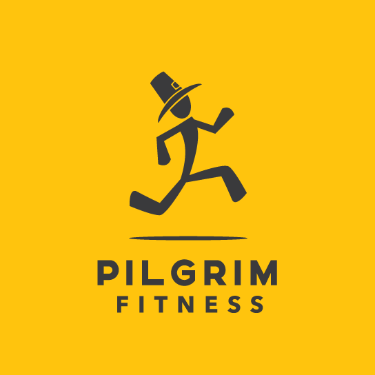 Example for a good logo: A fitness logo running man character
