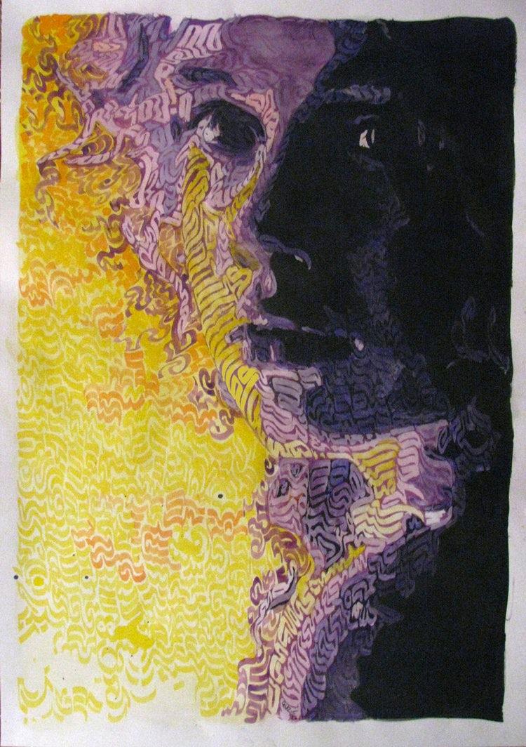 expressionist illustration for Artlounge, Australian Online Art Gallery