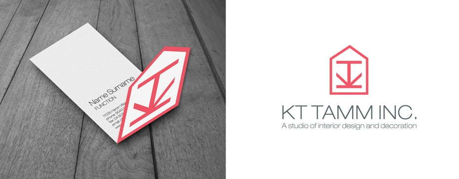 logo brand identity for interior design firm