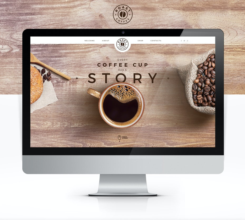 minimal coffee online shop web design