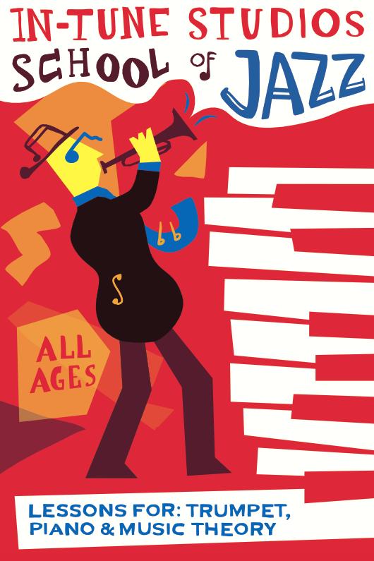 In-tune studios school of jazz poster