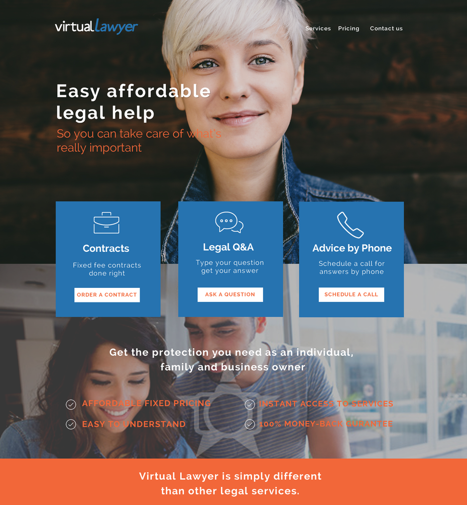 approachable and friendly law web design