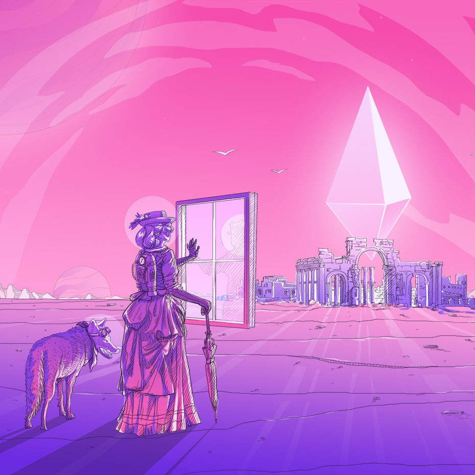 The Clever Coyote Slideshow Illustration