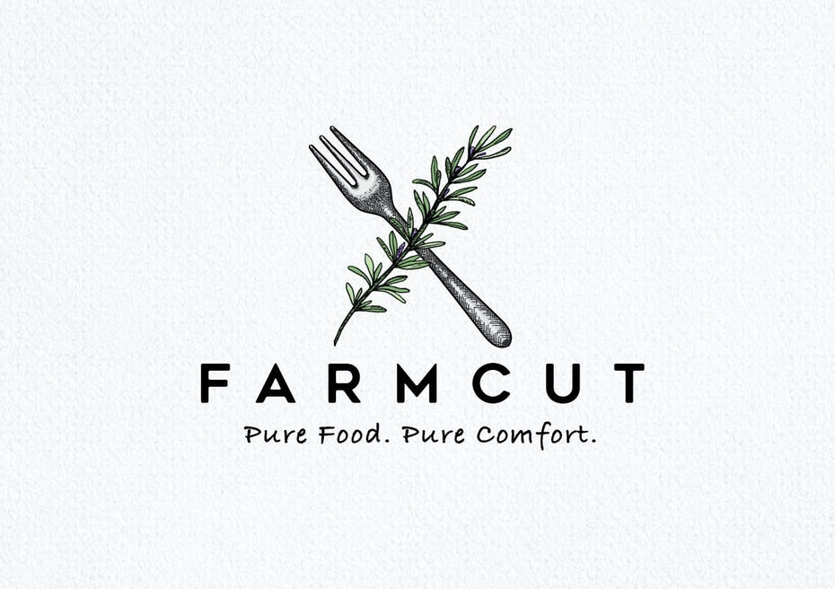 logo and tagline for Farmcut