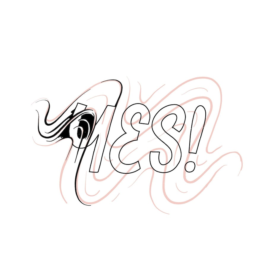 dynamic lettering of Yes