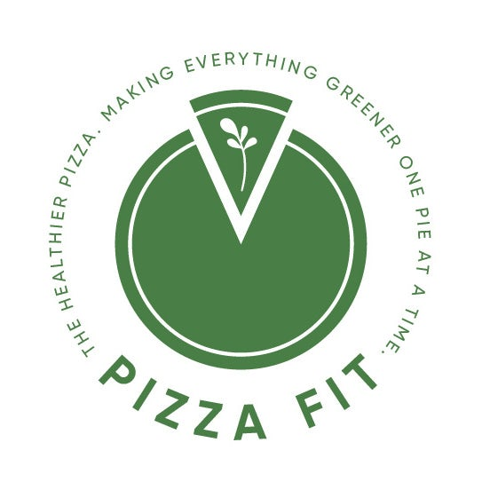 pizza logo with tagline