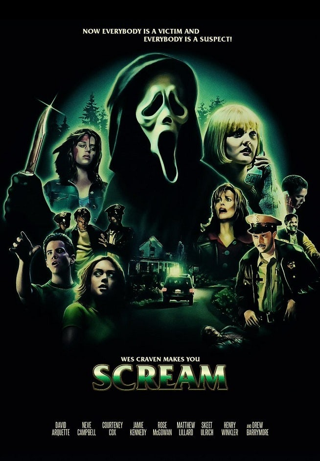 Wes Craven's Scream expressionist poster