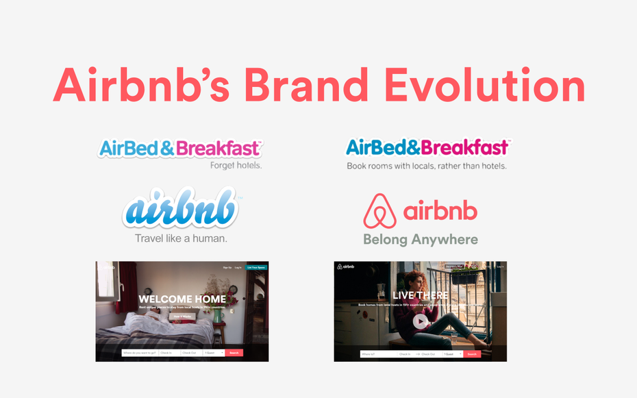 Airbnb rebrand logo and tagline
