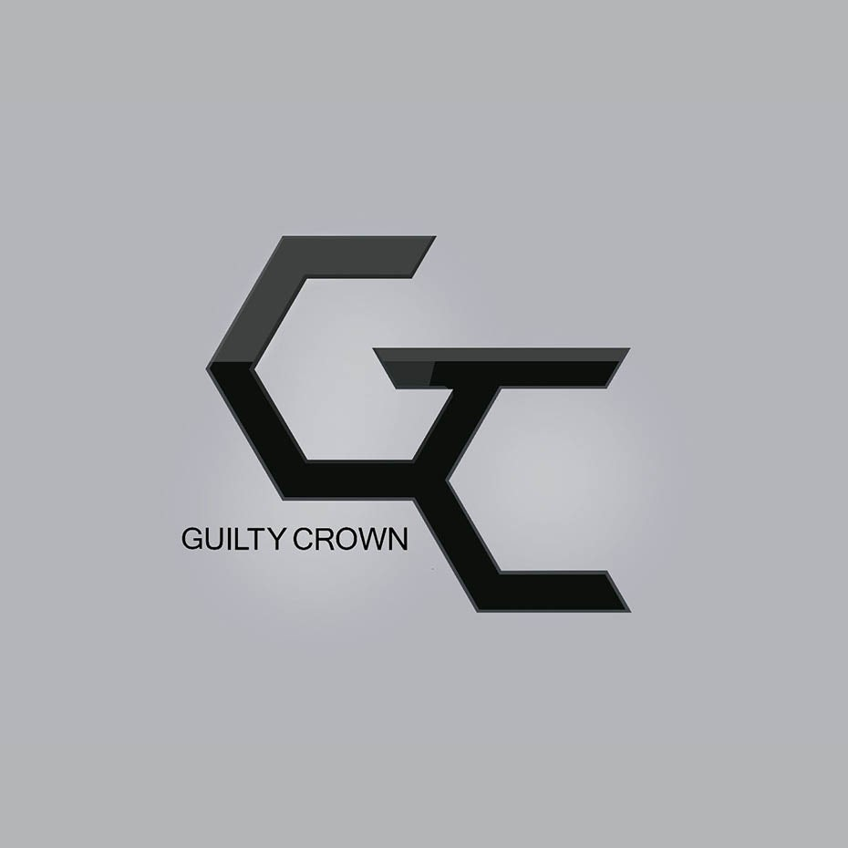 Guilty Crown anime typography logo