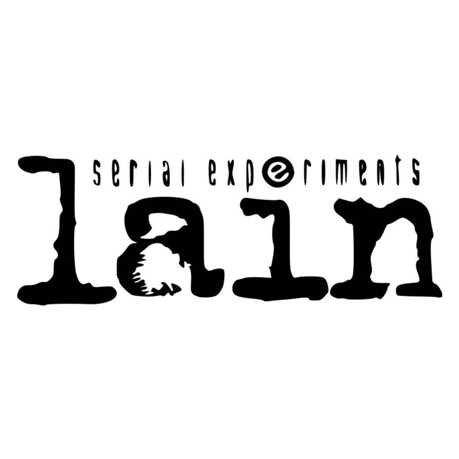 Serial Experiments Lain anime typography logo
