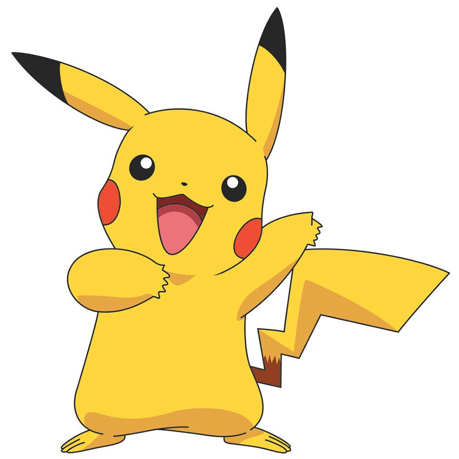 Pikachu pokemon anime mascot