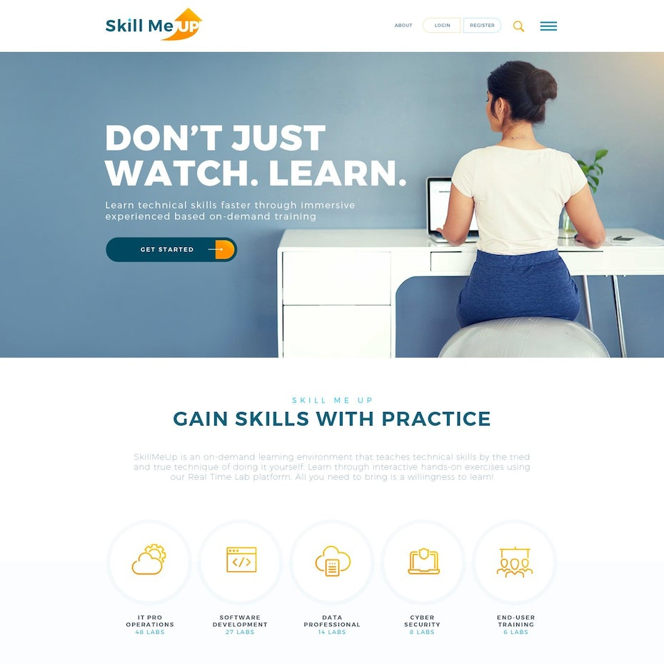 Web design for an e-learning platform