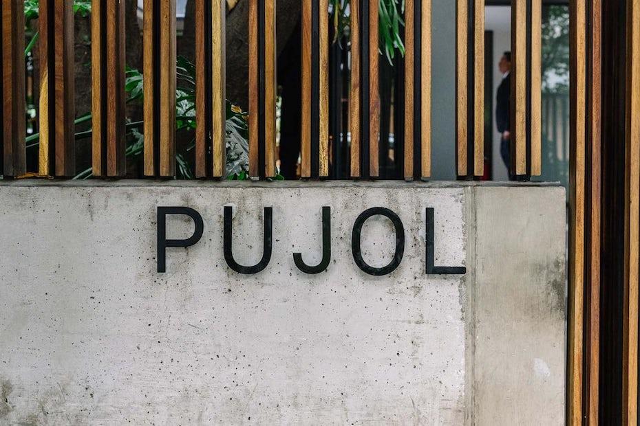 famous restaurant logo pujol