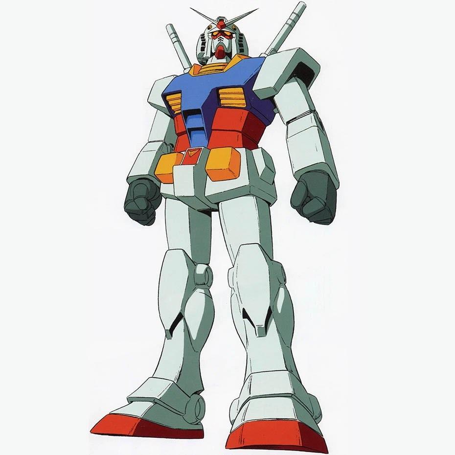 Gundam Mobile Suit anime mascot logo