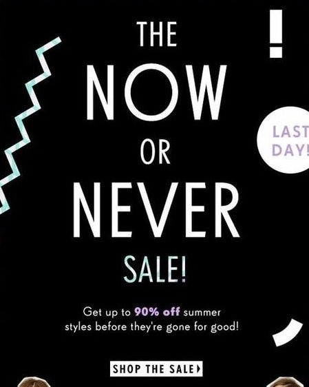 Nasty Gal Cyber Monday campaign