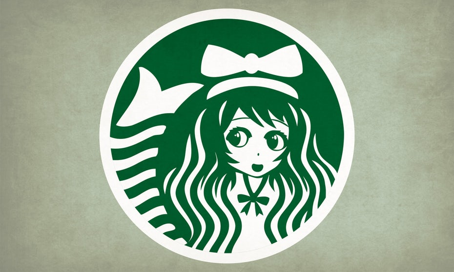 Starbucks anime logo design