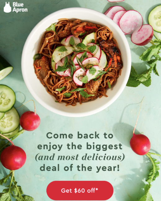 Blue Apron Black Friday Campaign