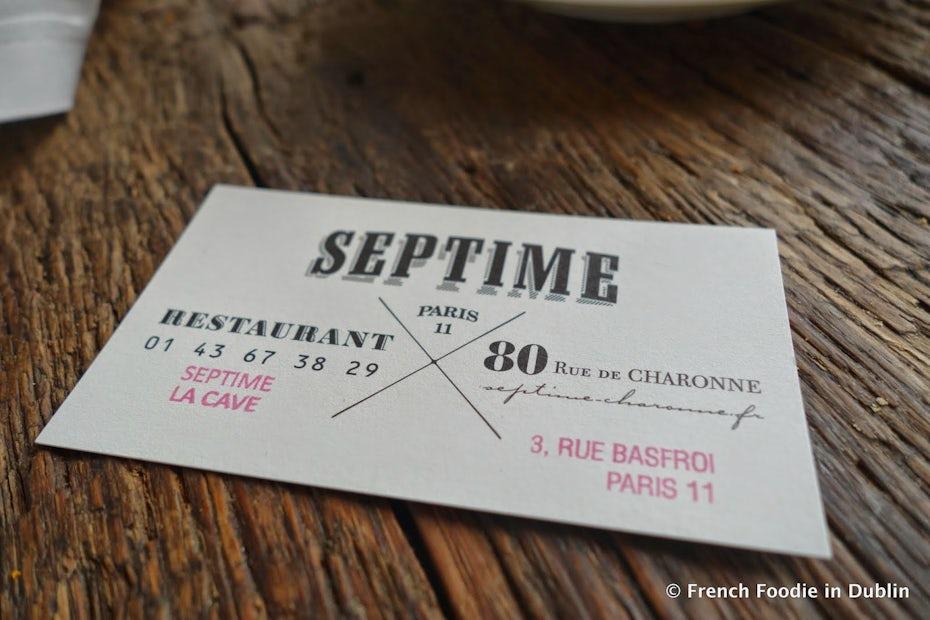 famous restaurant logo septime