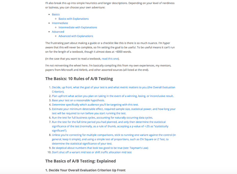 Rules of A/B testing