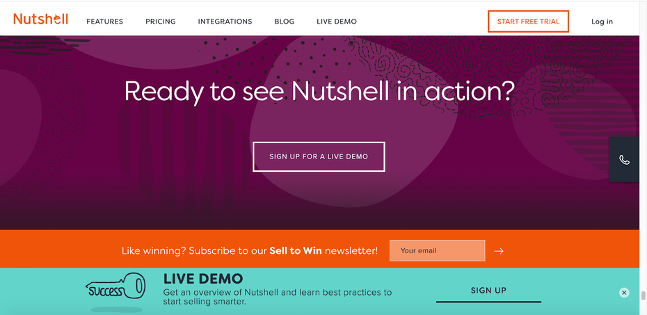 Nutshell homepage