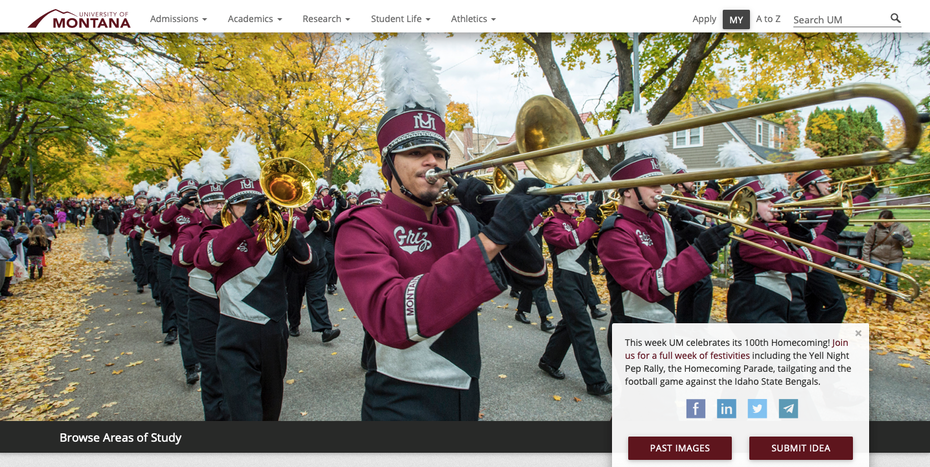 University of Montana website