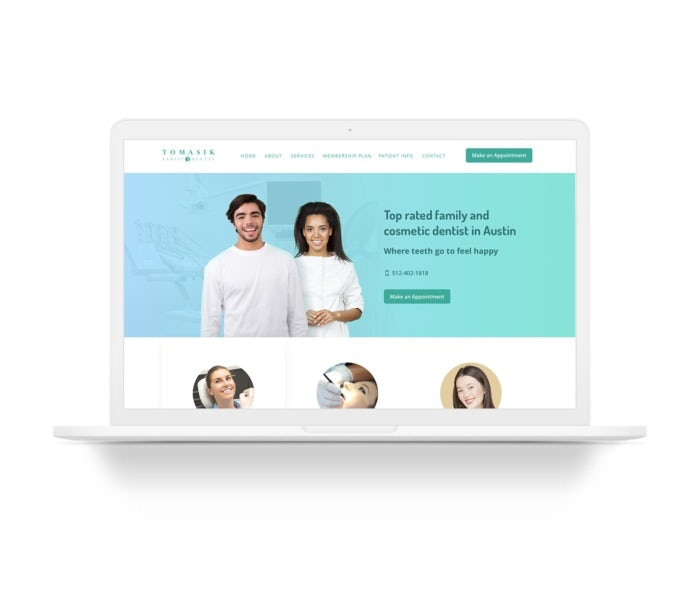 modern minimal dental web design