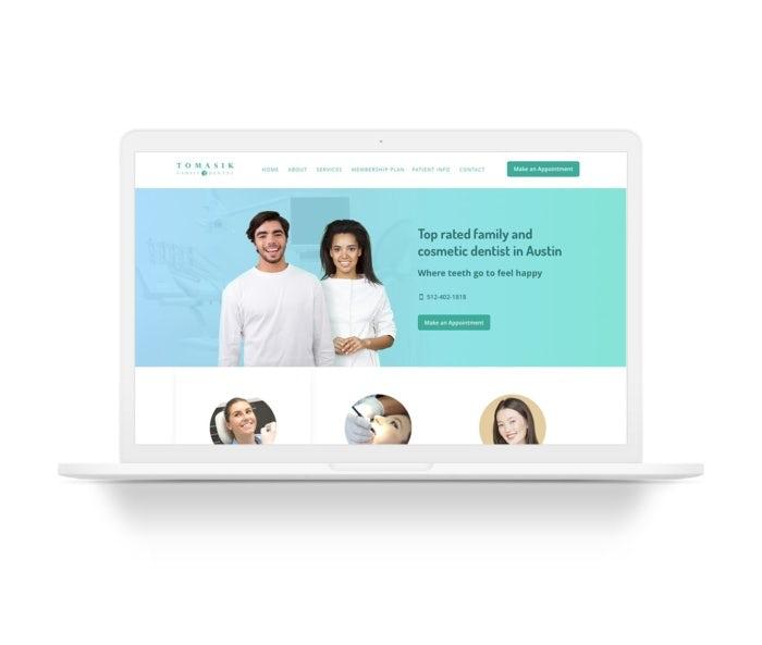 modern minimal dental web design