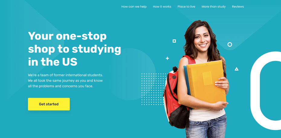 Educational website design for international students