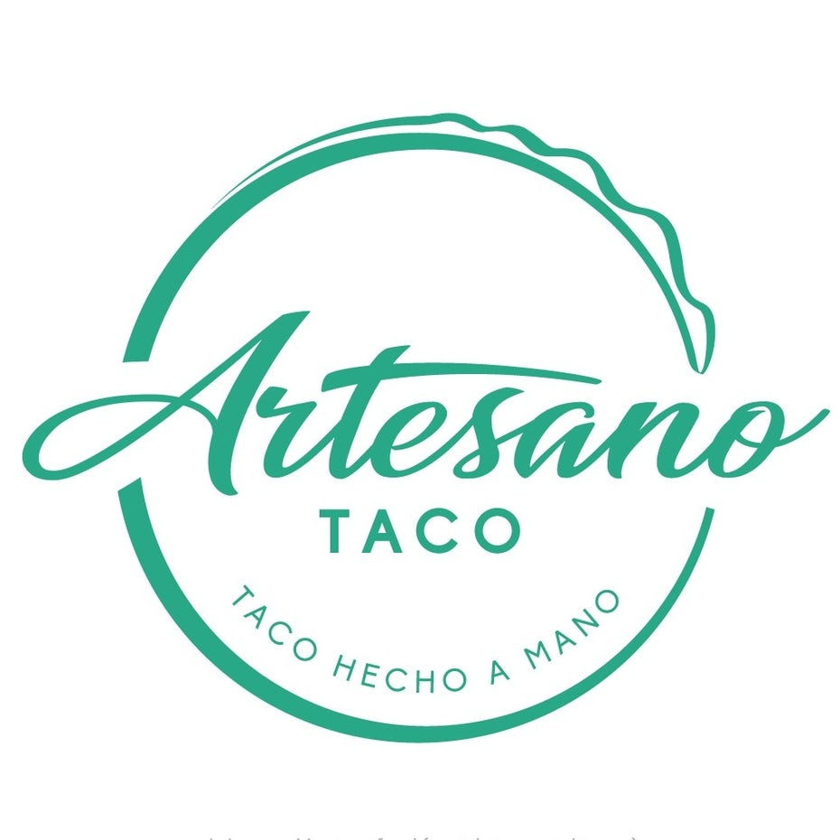 classic taco logo with custom font