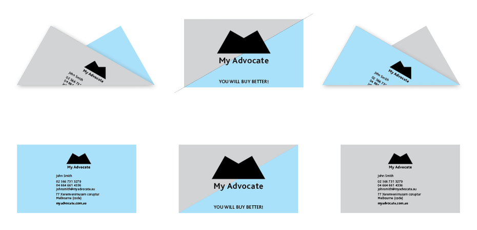 foldable business card