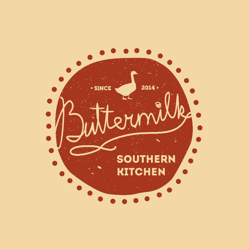quirky hand-drawn restaurant logo with cozy fun vibe
