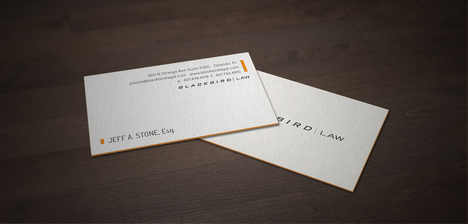 blackbird law business card