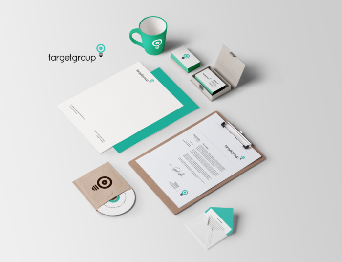 branding examples with logo on different materials