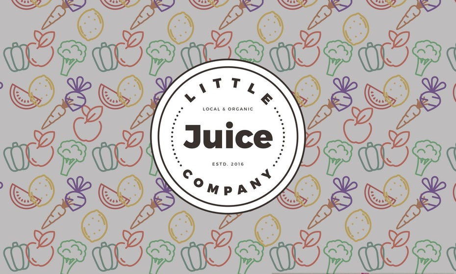 fun casual and modern juice bar logo