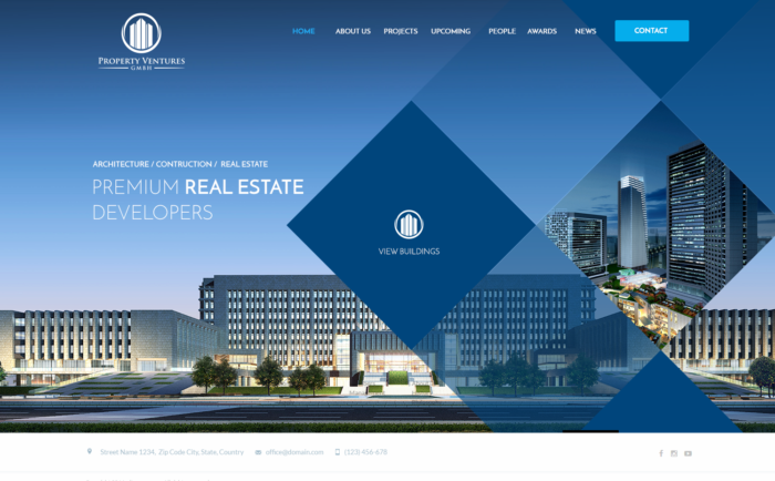 premium real estate web design