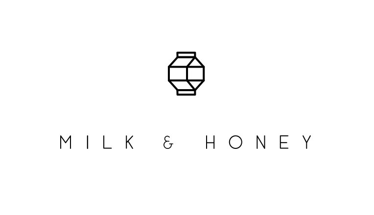 black and white line art restaurant logo